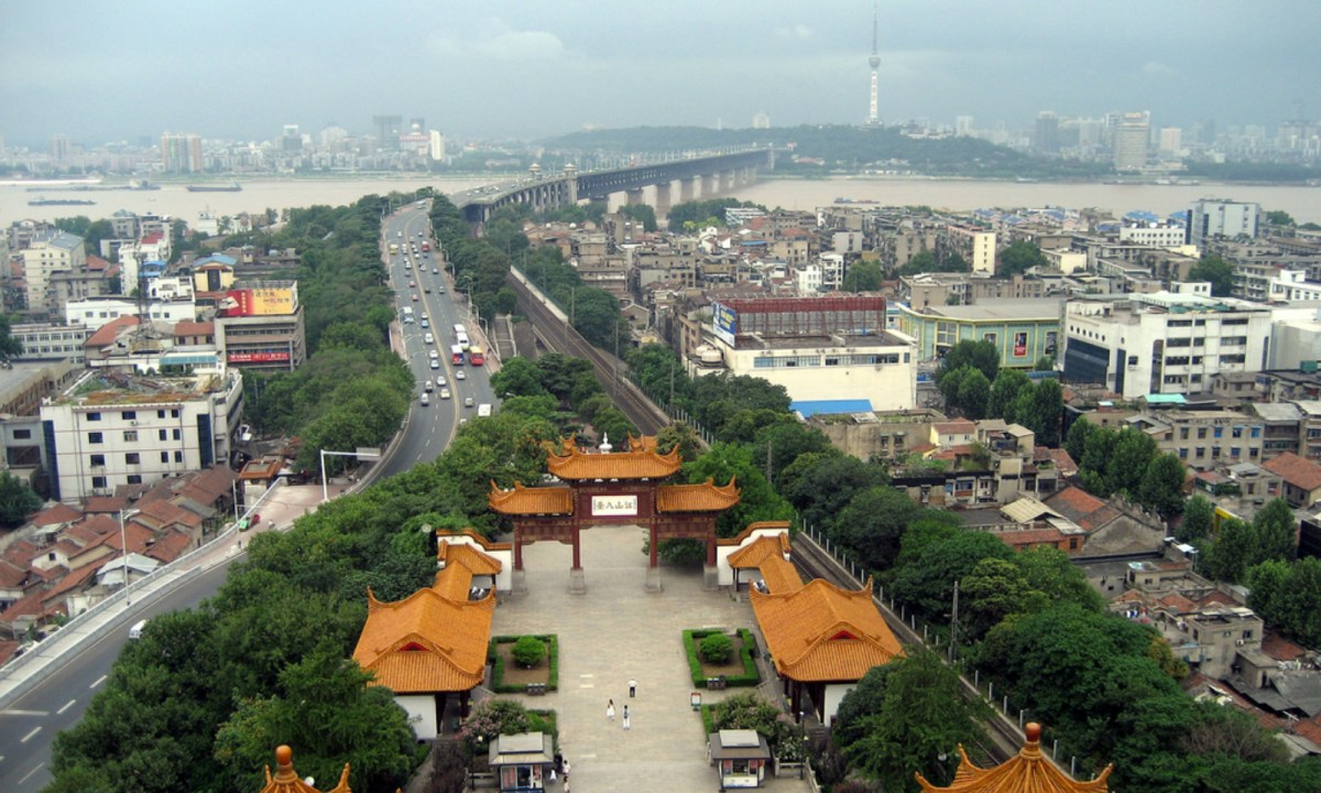 Wuhan city in Hubei province in central China. Photo: Wikimedia Commons.