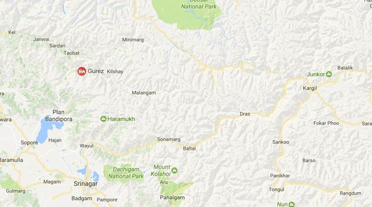 Three militants were killed during an infiltration bid in Jammu and Kashmir's Gurez sector on Thursday. Map: Google Maps