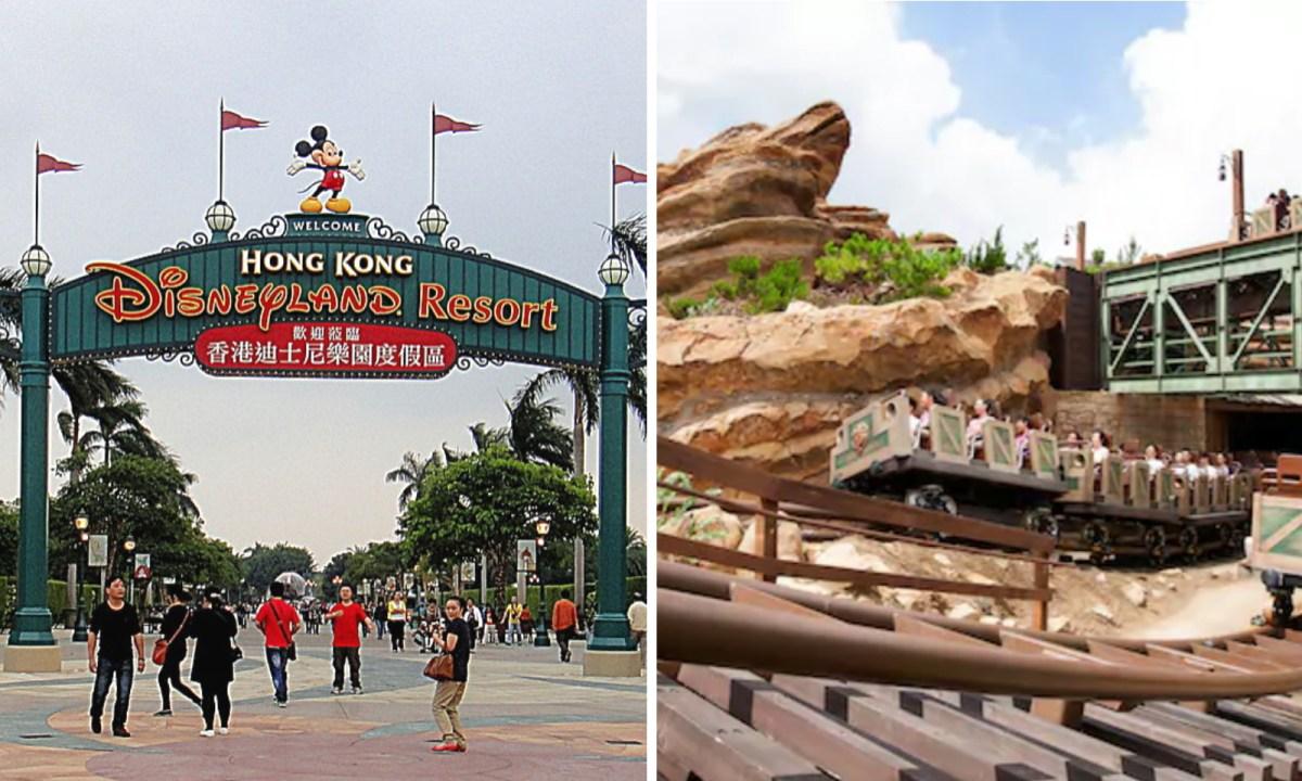 Big Grizzly Mountain Runaway Mine Cars at Hong Kong Disneyland. Photo: Disneyland