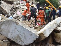 The Sai Darshan building in Mumbai collapsed at 10.30am on Tuesday. Photo: NDTV