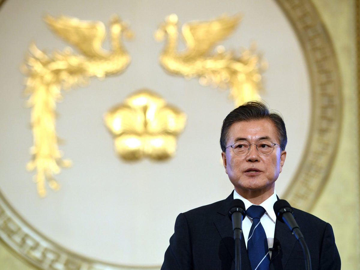 South Korean President Moon Jae-In. Photo: Reuters/Jung Yeon-Je/Pool