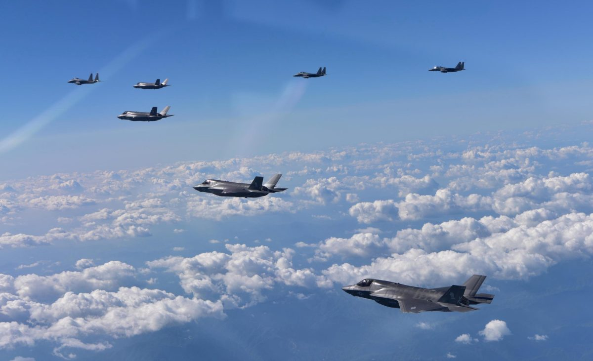 US and South Korean warplanes take part in a joint military drill over South Korea on August 31, 2017. Republic of Korea Air Force / Yonhap / via Reuters