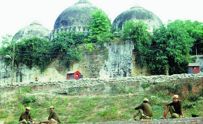The 16th-century Babri Masjid before it was destroyed by extremists in 1992. Photo: Subir Roy