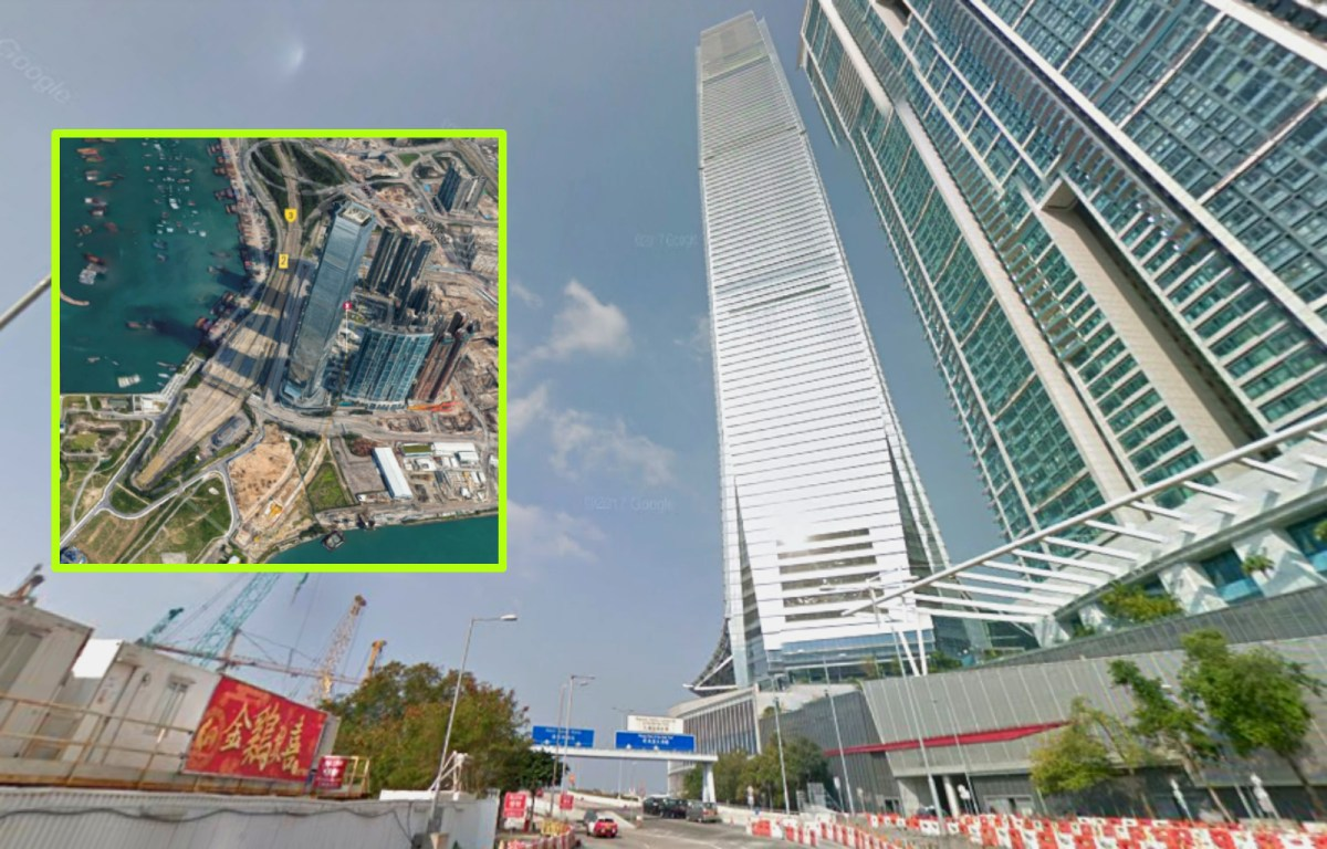 International Commerce Centre is the 11th highest building in the world. Photo: Google Maps