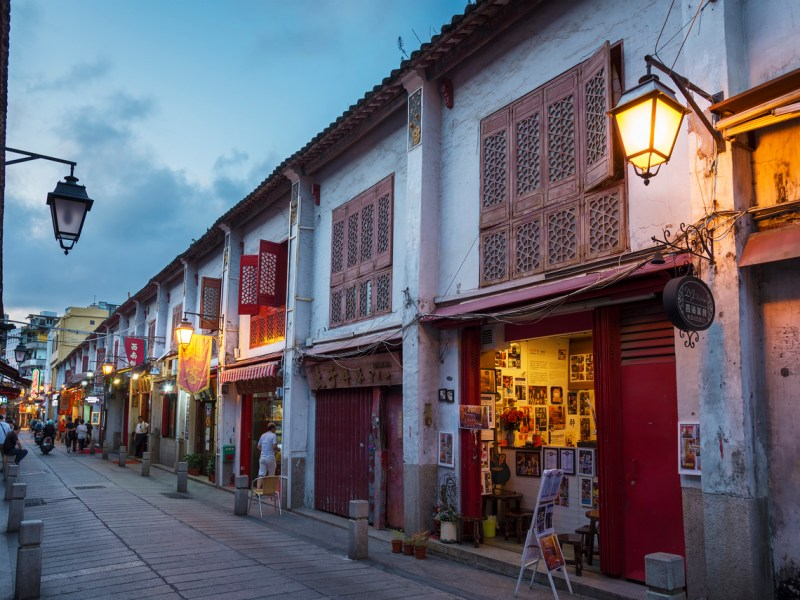 An old town street in a historic section of global gaming hub Macau. Macau was inscribed on Unesco's World Heritage List in 2005. Photo: iStock/Getty Images