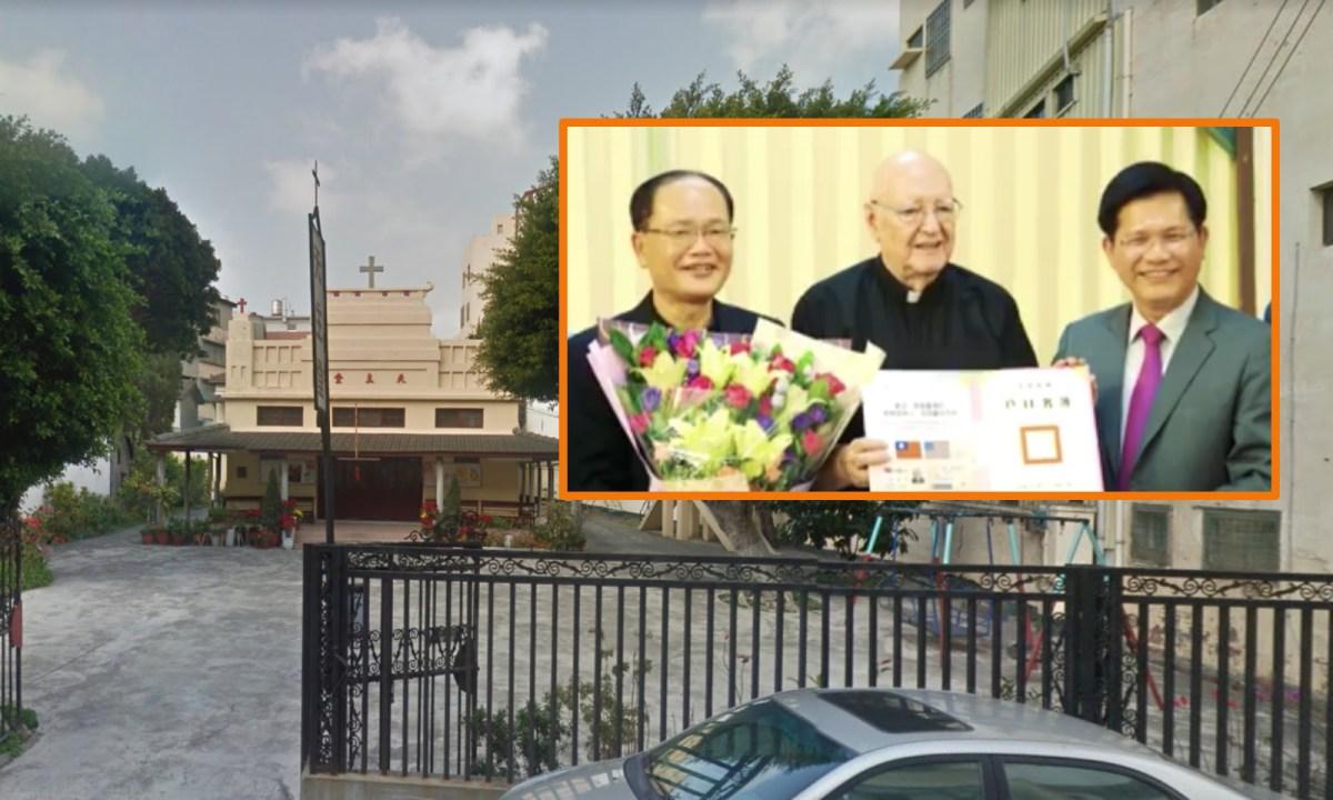 Qingshui Catholic Church, Taichung City. Photos: Google Maps, Facebook/Lin Chia-lung