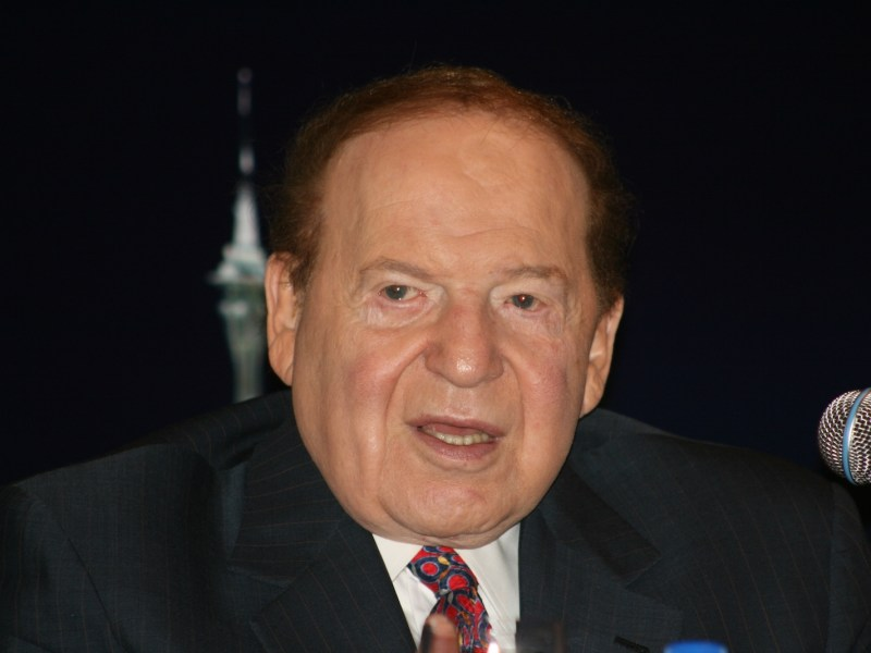 Venetian Macao founder Sheldon Adelson. Photo: Wikimedia Commons/BecTrigger