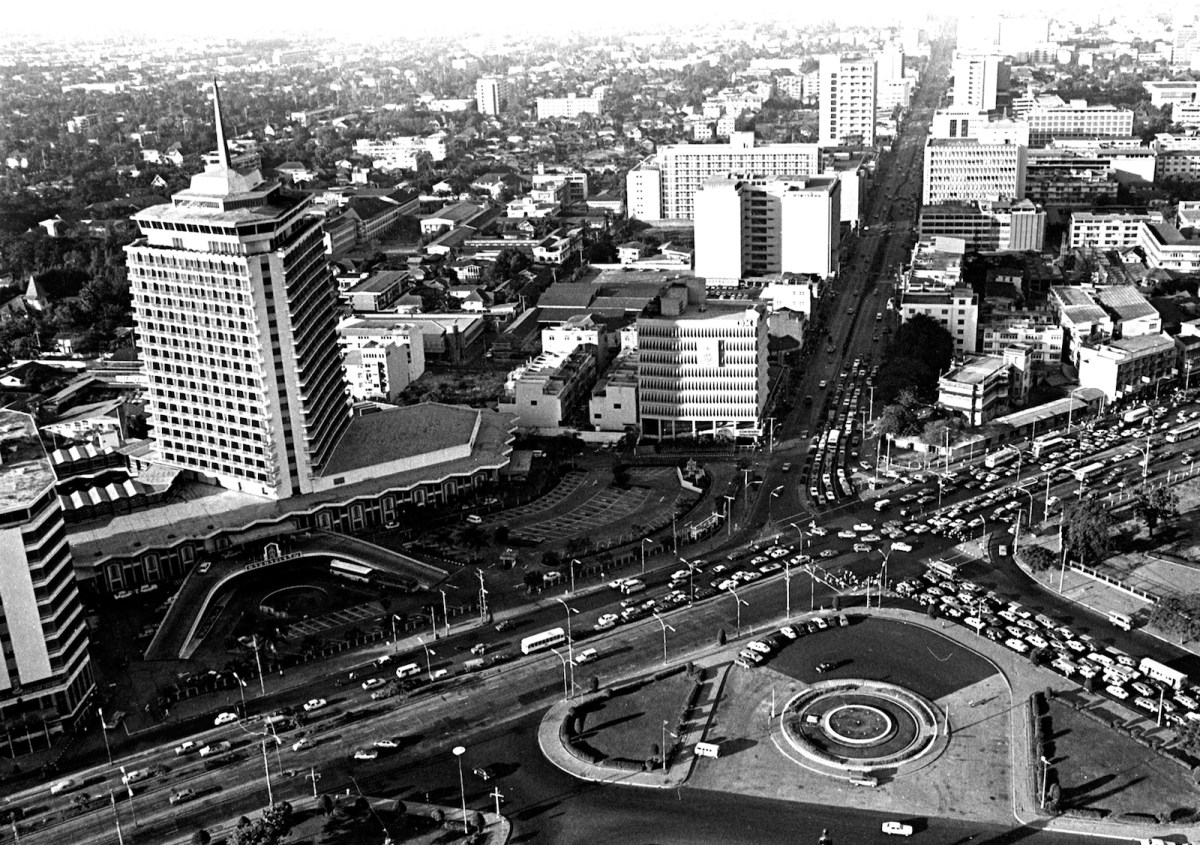 A historic picture of the Dusit Thani Hotel in Bangkok. Picture: Dusit International