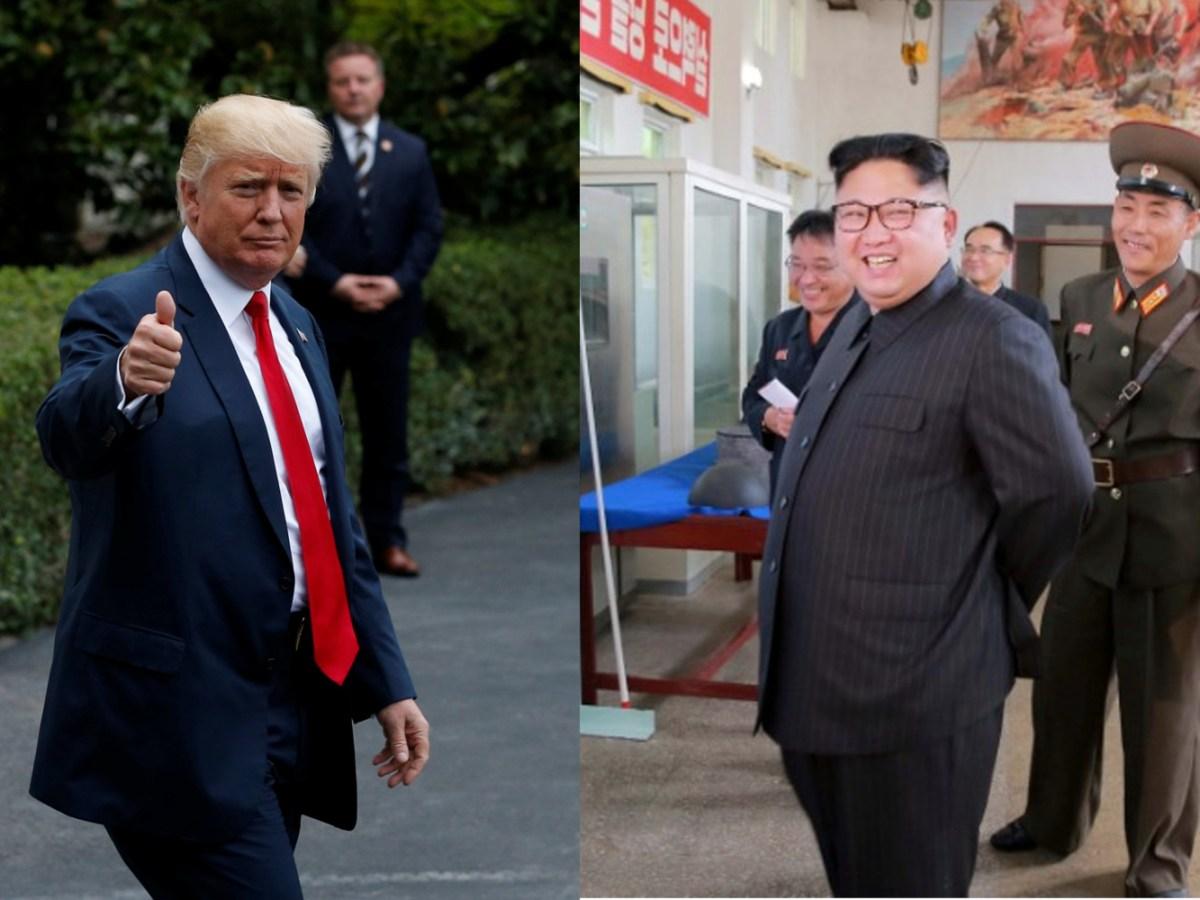 US President Donald Trump and North Korea's leader Kim Jong-un.