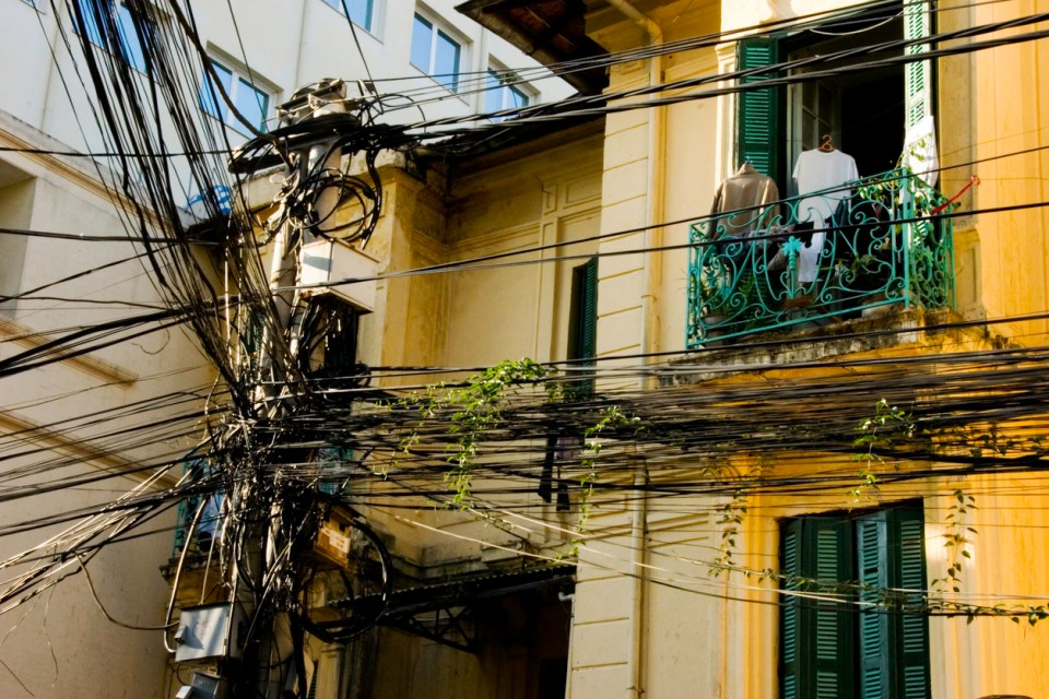 Electrical Lines in Hanoi