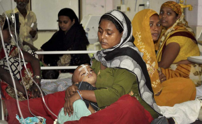 Dozens of children have died at the Baba Raghav Das Medical College in Gorakhpur, Uttar Pradesh. Photo: NDTV