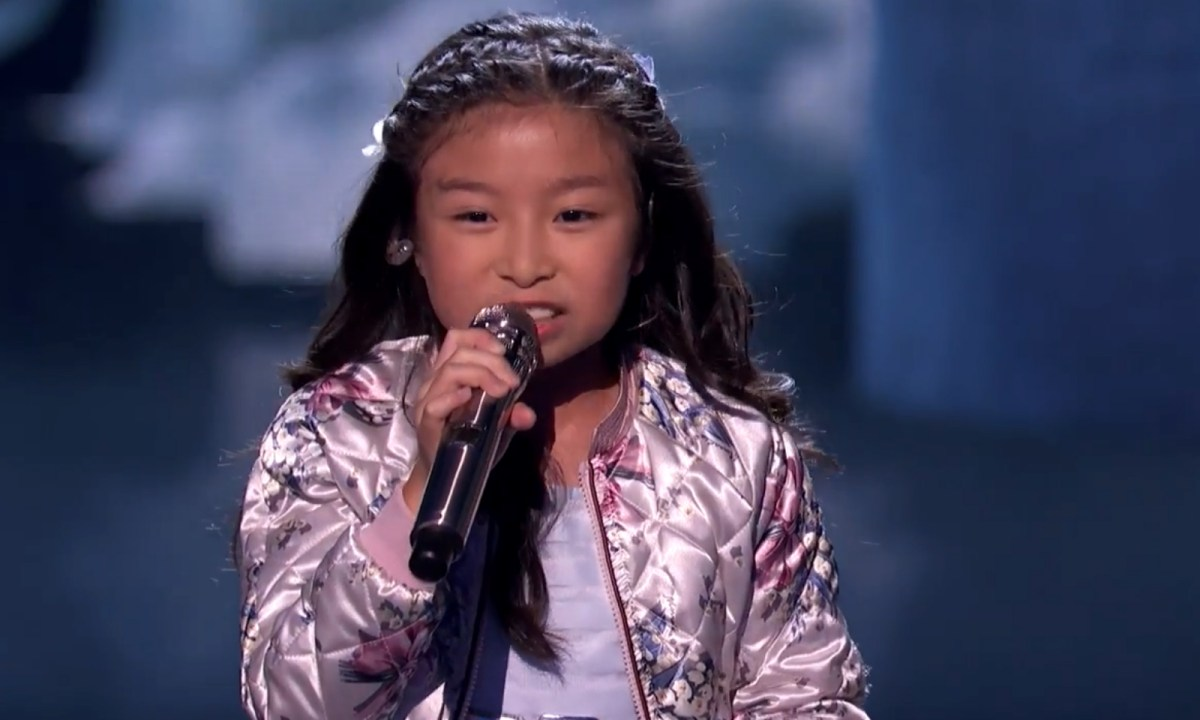 Celine Tam performs in the US talent quest. Photo: America's Got Talent