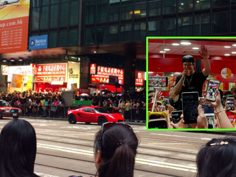 Central, Hong Kong Island; Enrique Gil (inset). Photos: Twitter, Mei Lai, dex