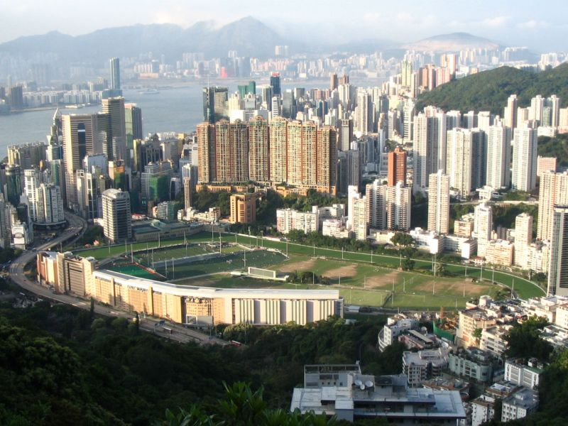 Happy Valley, Hong Kong Island. Photo: Wikimedia Commons, Minghong