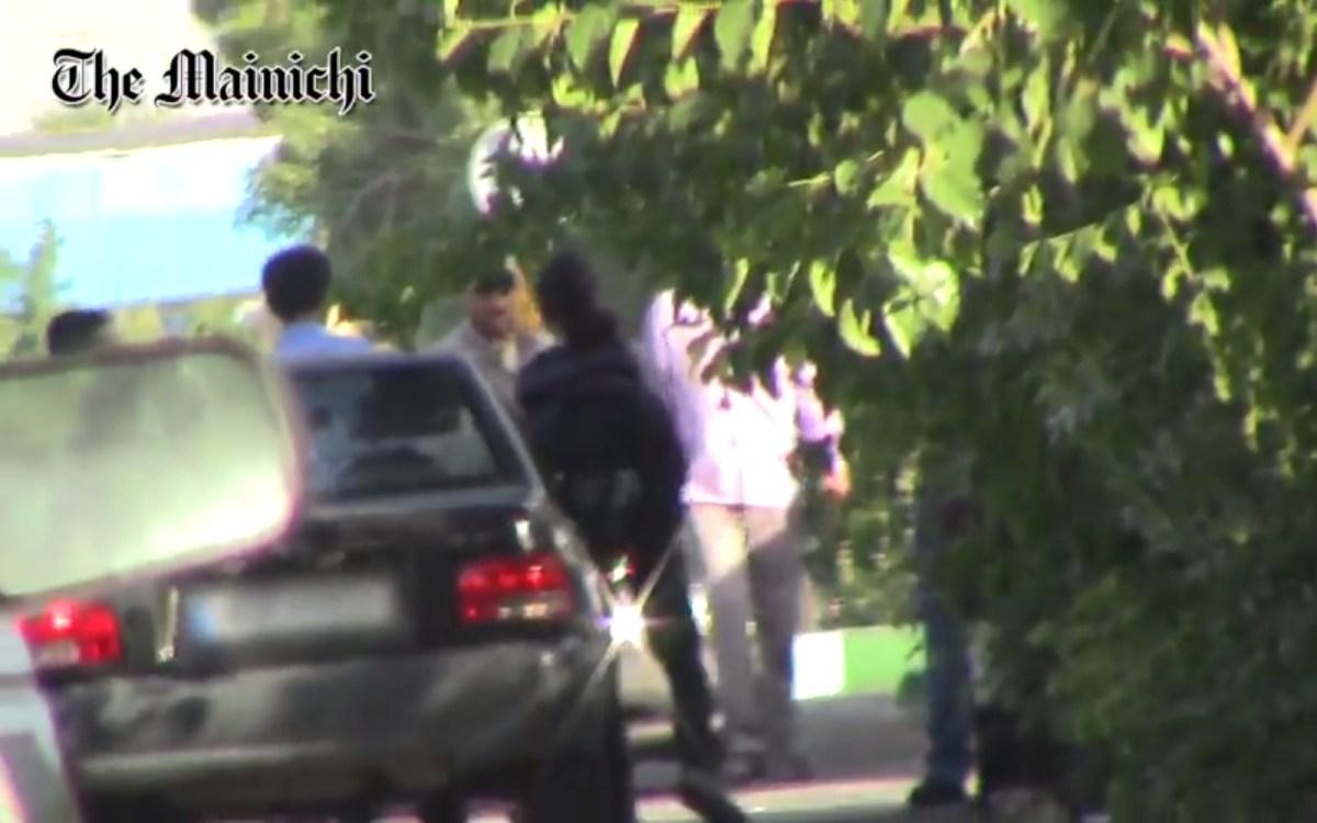 Still from Mainichi footage in Iran.