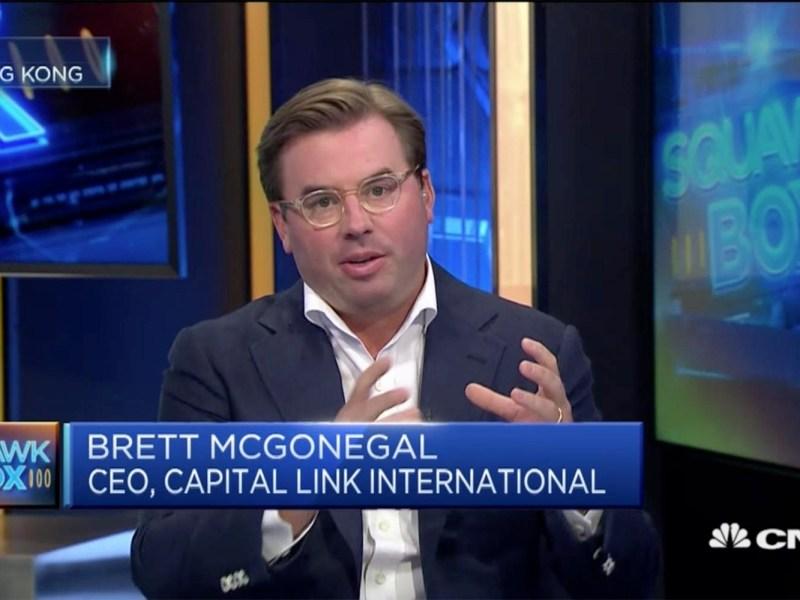 Capital Link International CEO Brett McGonegal. Photo: CNBC screen grab