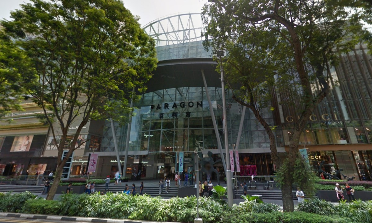 The Paragon shopping center, Orchard Road, Singapore. Photo: Google Maps