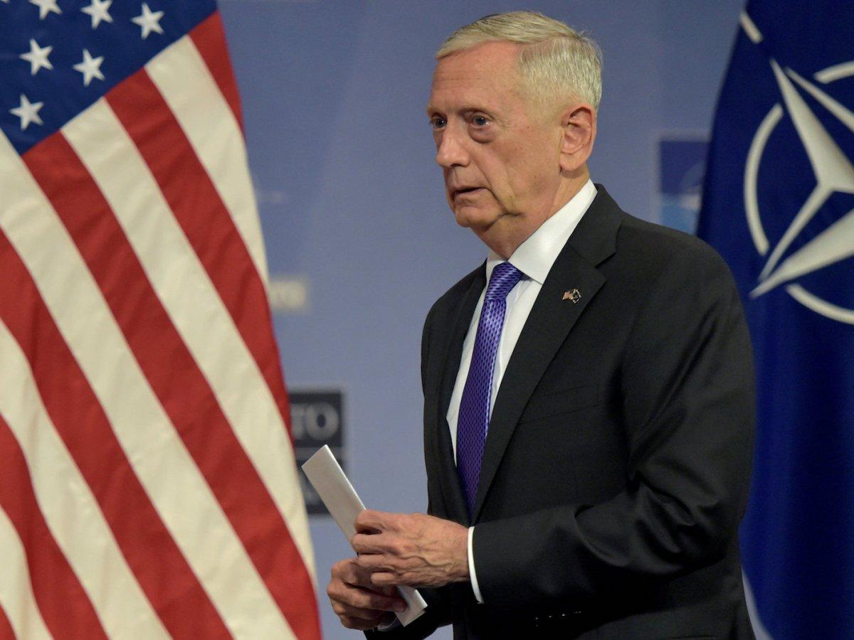 US Secretary of Defence James Mattis. Photo: Retuers/Eric Vidal