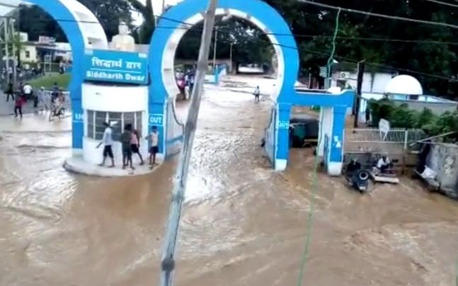 The collapse of part of the Gateshwar Panth Canal Project caused flooding in Kahalgaon. Photo: indiatoday.com