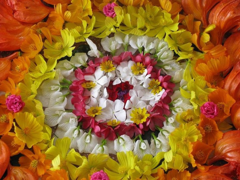 Onam, the national festival of flowers in India, will be celebrated on September 4. Photo/Wikimedia Commons