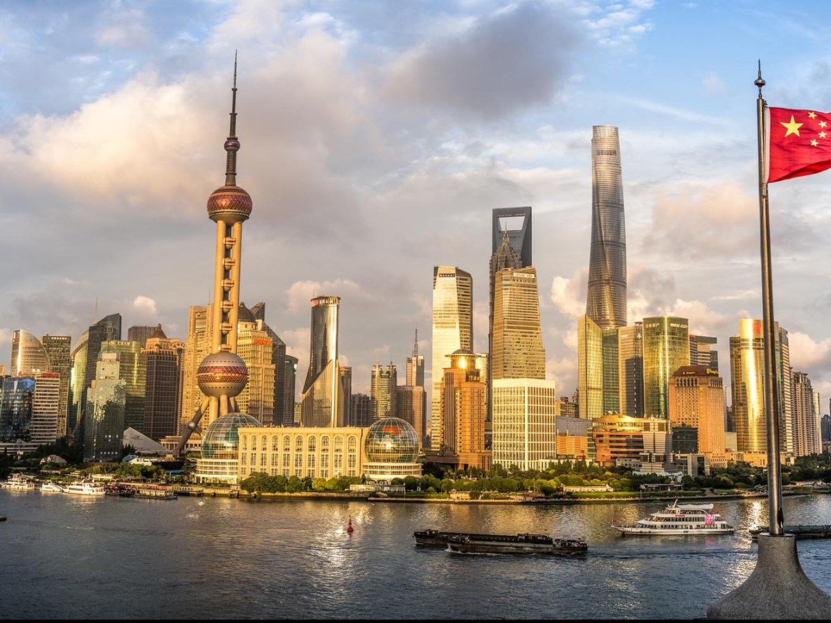 Shanghai's Lujiazui financial district of Shanghai. Chinese companies' share of global electronics production, meanwhile, rose from 30% in 2012 to nearly 60% in 2016, and this share will rise to 87% by the end of the present year. Photo: iStock