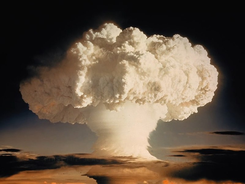 "The ""Ive Mike"" atmospheric nuke test, conducted over the Pacific Ocean by the US in 1952, was the first test of a full-scale thermonuclear device. Photo: Wikipedia"