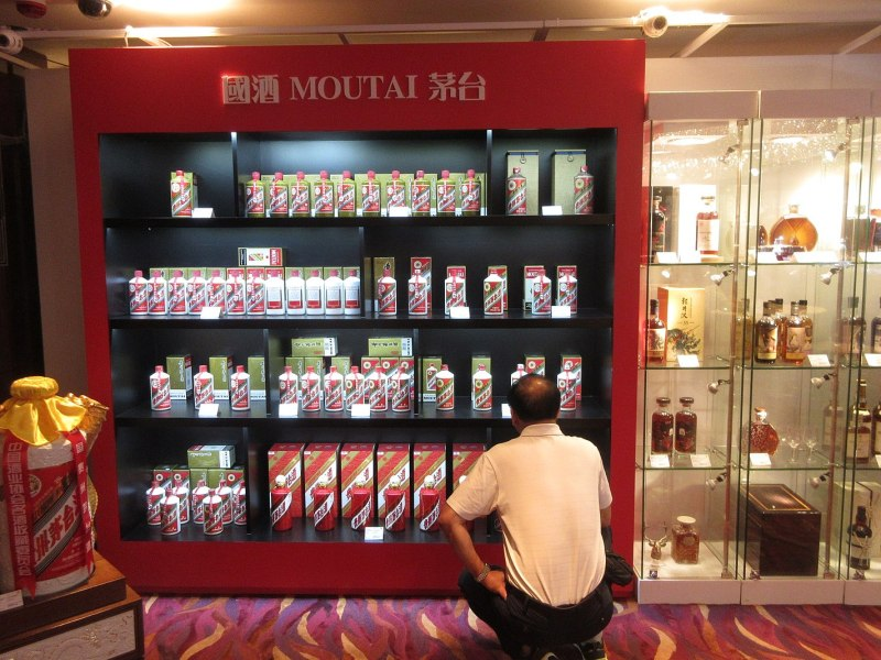 A display of Maotai. Photo: Wikimedia Commons