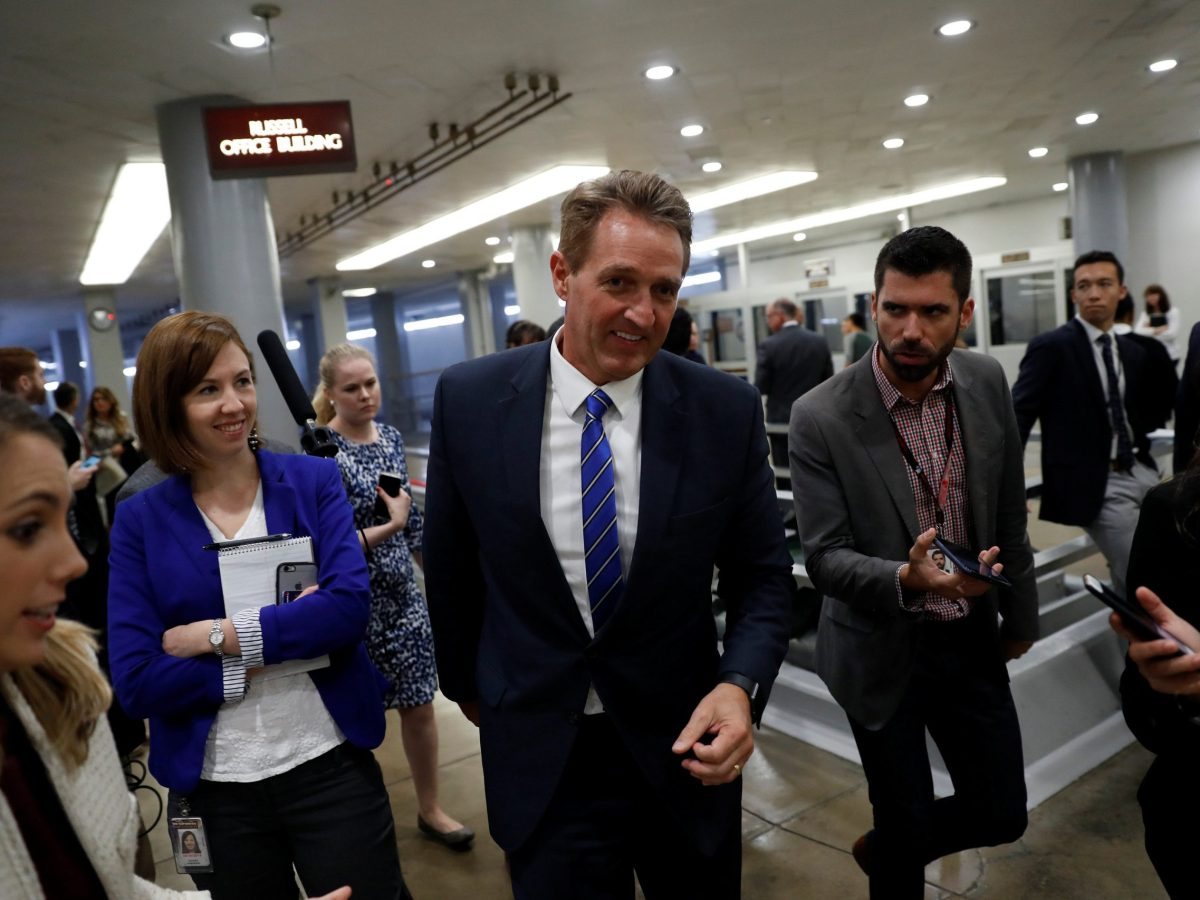 Sen Jeff Flake (R-AZ). Photo: Reuters / Aaron P Bernstein