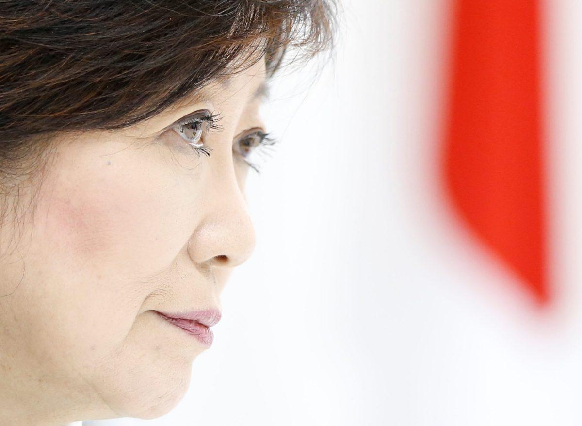 Tokyo Governor Yuriko Koike, head of Japan's Party of Hope, in Tokyo, Japan, October 6, 2017. Reuters/Issei Kato