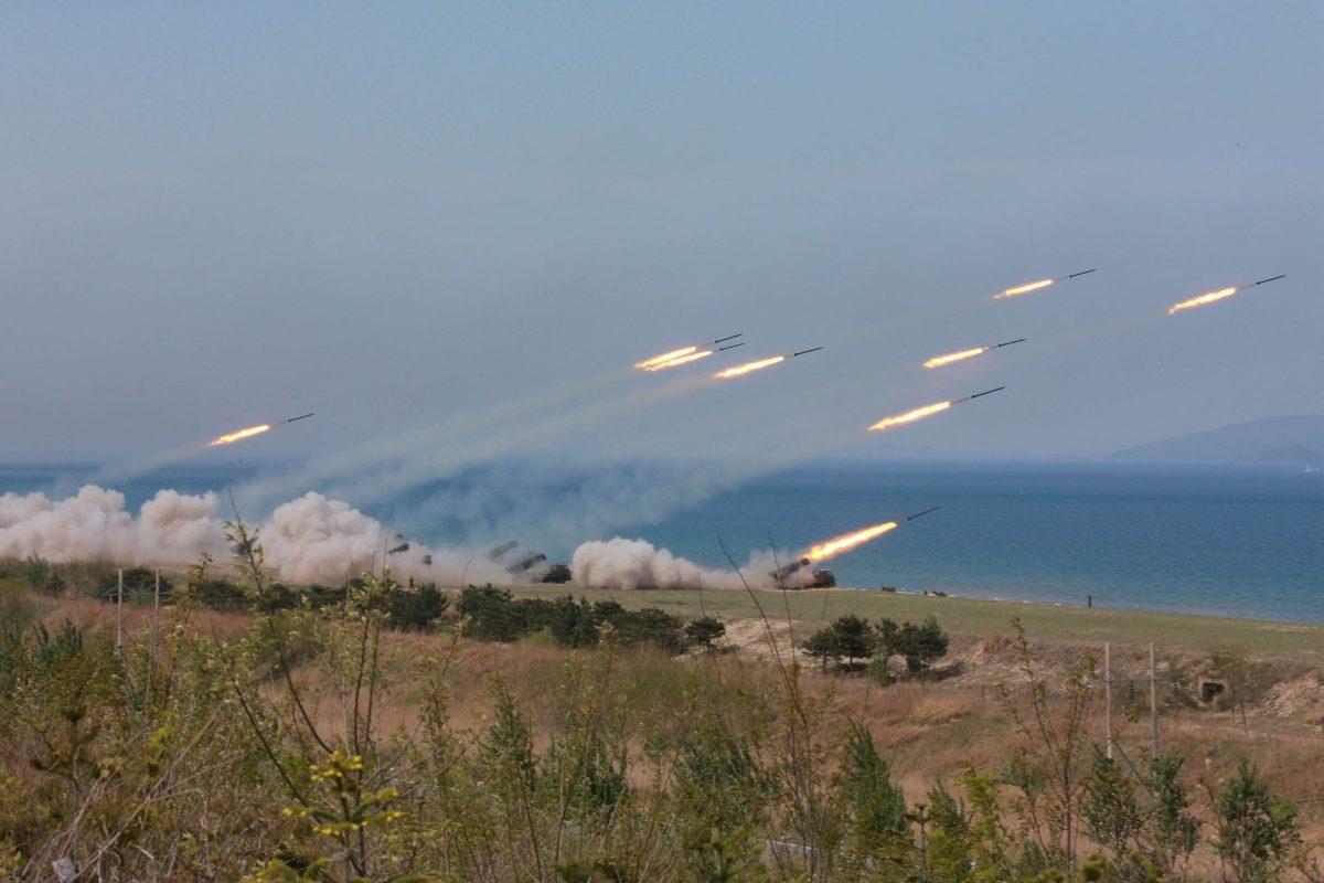 A military drill in North Korea. Photo: KCNA/Handout via Reuters