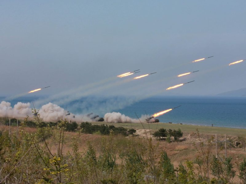 A military drill in North Korea. Photo: KCNA/Handout via Reuters