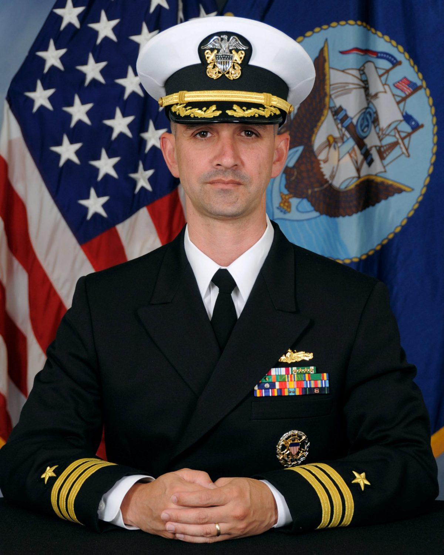 Commander Alfredo J. Sanchez, commanding officer of U.S.S. McCain, is seen in this undated handout picture obtained October 11, 2017. U.S. Navy/Handout via Reuters