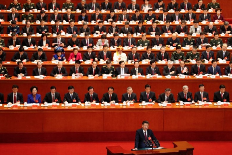 Chinese President Xi Jinping delivers his speech during the opening session of the 19th National Congress of the Communist Party of China at the Great Hall of the People in Beijing, China October 18, 2017. REUTERS/Damir Sagolj