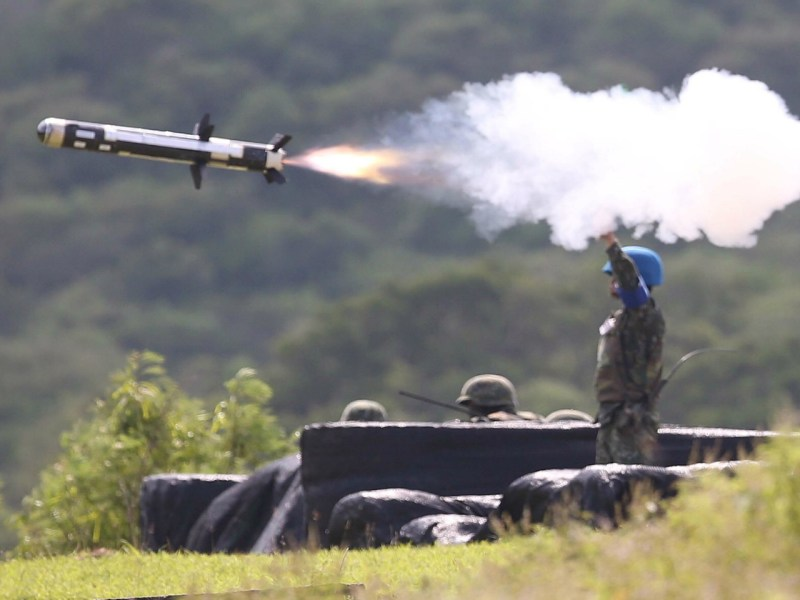 Taiwan has conducted regular defense drills, such as the annual Han Kuang Exercises to mock an invasion by China, since 1984. Photo: Central News Agency