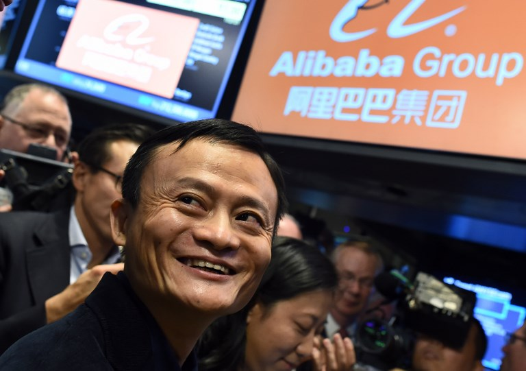 Chinese online retail giant Alibaba founder Jack Ma smiles as he waits for the trading to open on the floor at the New York Stock Exchange in 2014. Photo: AFP/Jewel Samad