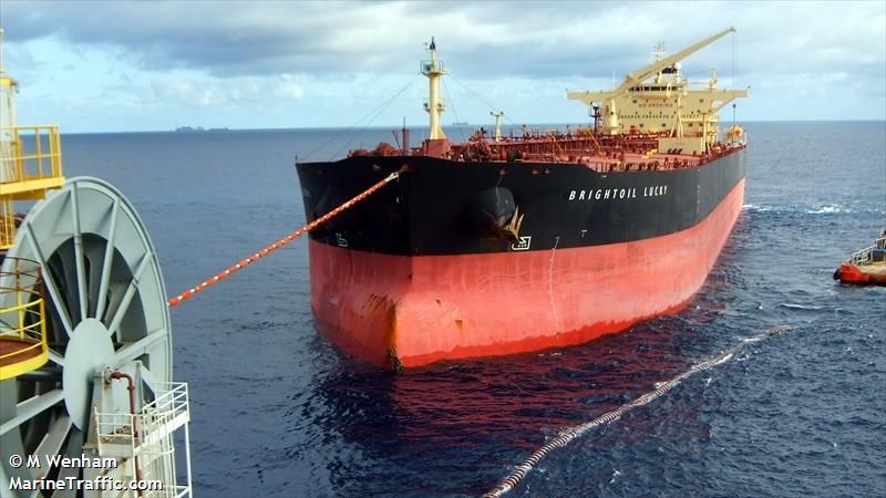 Hong Kong tanker Brightoil Lucky. Photo: marinetraffic.com
