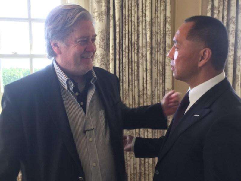 Steve Bannon with Guo Wengui, aka Miles Kwok. Photo: Guo Wengui's Twitter feed