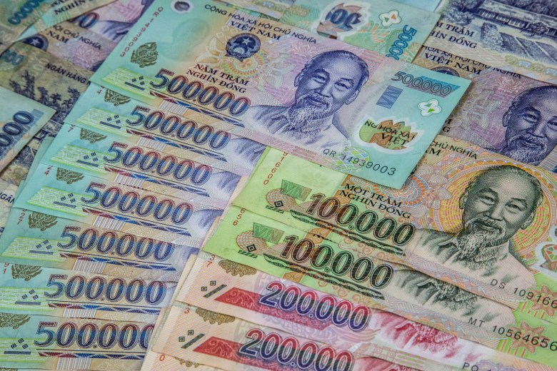 Vietnam's currency is rich with zeros. Photo: iStock