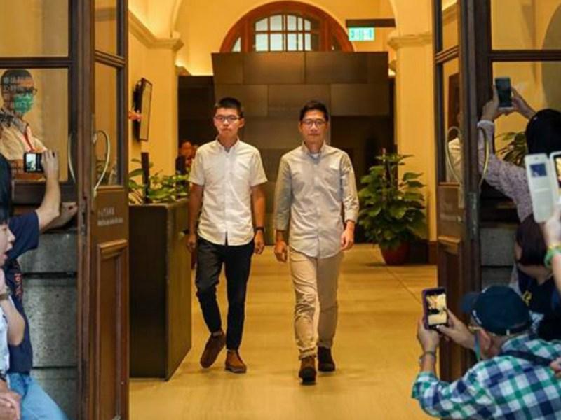 Joshua Wong (left) and Nathan Law. Photo: League of Social Democrats / Joshua Wong@Facebook