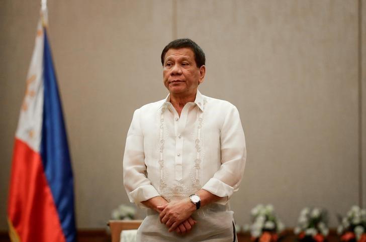 Philippine President Rodrigo Duterte is seen during a diplomatic event in Manila in September 2017. Photo: Reuters