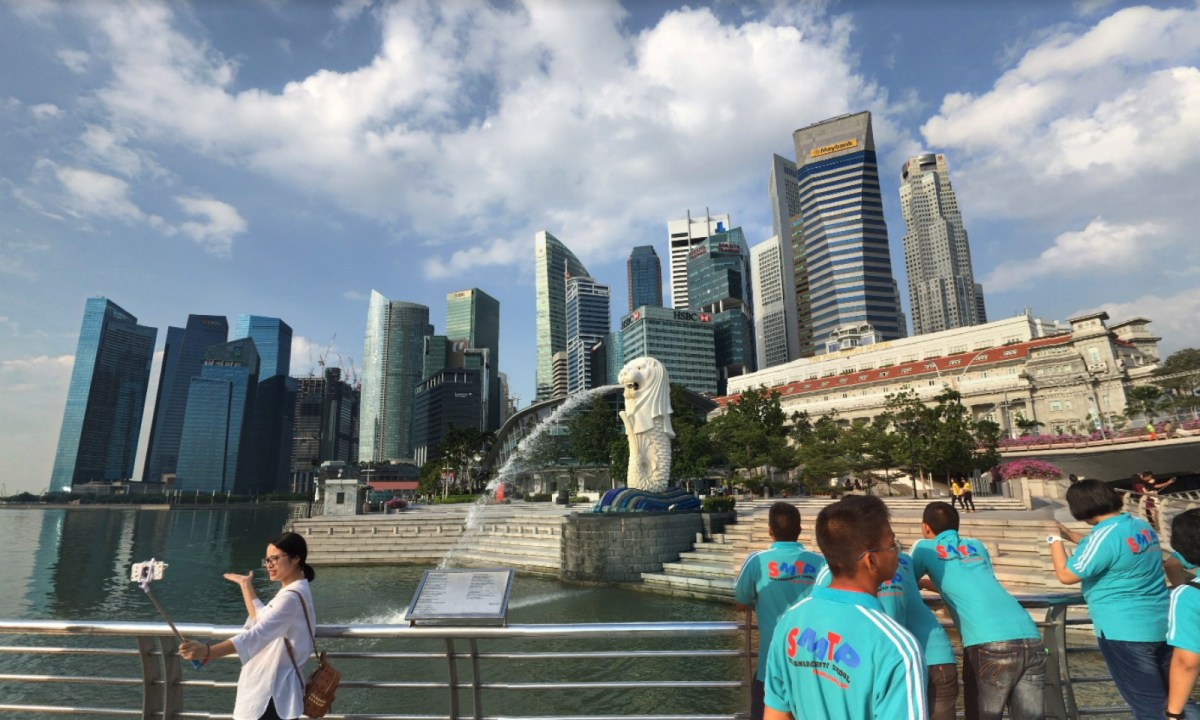 Merlion Park in Singapore. Photo: Google Maps