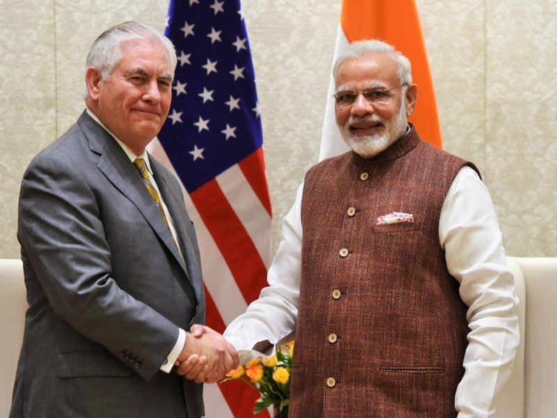 US Secretary of State Rex Tillerson met with Indian Prime Minister Narendra Modi last week to discuss improving economic and strategic issues aimed at countering China's growing influence in South Asia. Photo: Wikimedia commons, via US state department.