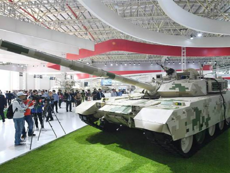 A Chinese-made VT-4 battle tank is seen on display. The Thai army has just received the first batch of 49 such tanks that were part of a US$148-million deal. Photo: Xinhua