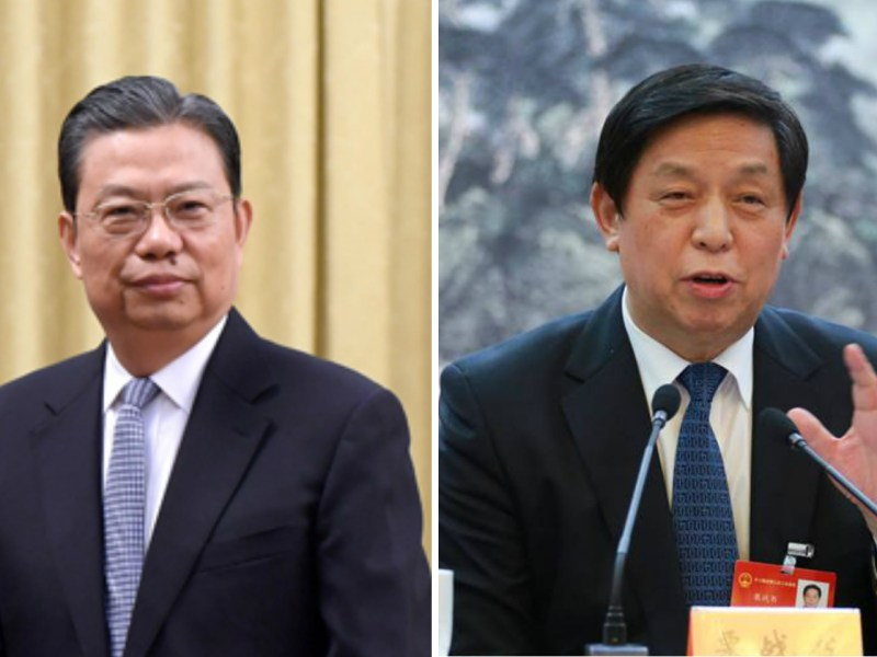 Zhao Leji (left) and Li Zhanshu (right) Photo: Xinhua