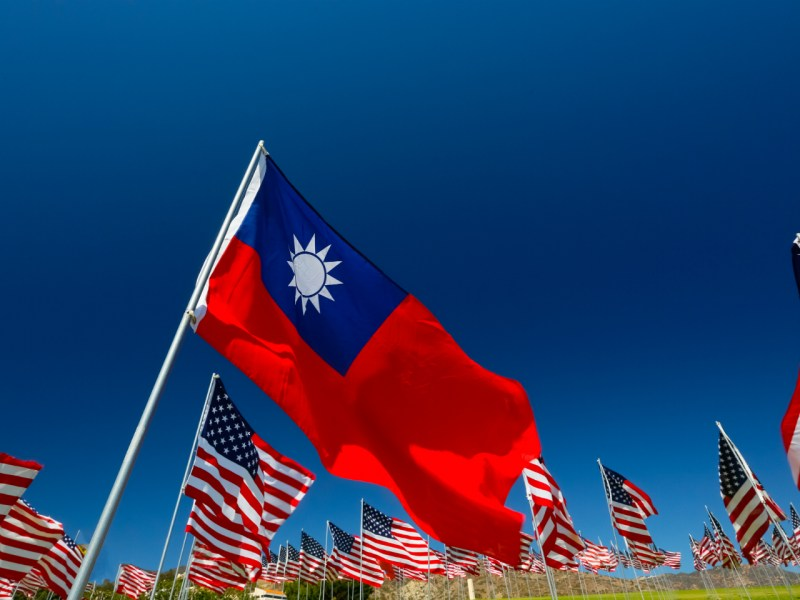 United States and Republic of China (Taiwan) flags. Photo: Getty Images