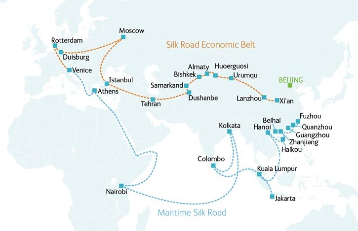China's One Belt One Road Initiative.