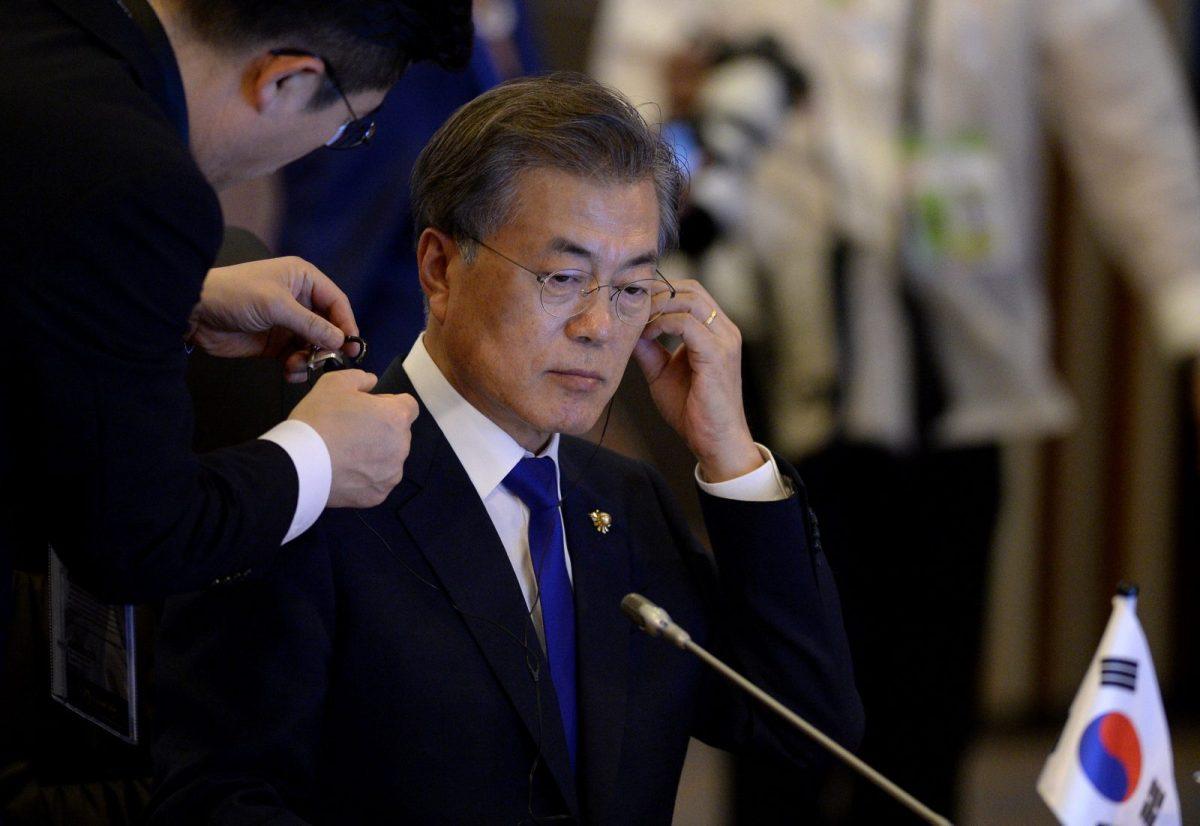 South Korean President Moon Jae-In is under pressure to increase jobs for graduates. Photo: Reuters/Noel Celis