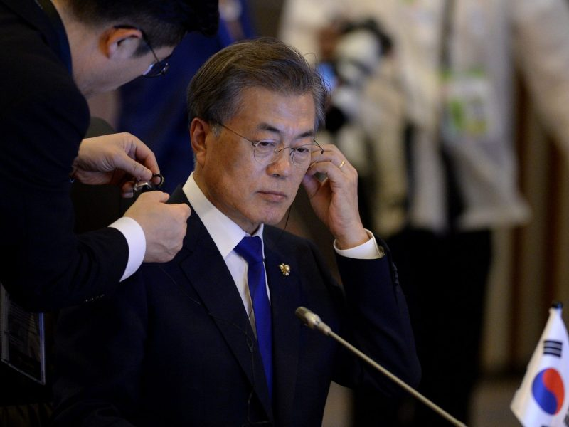 South Korean President Moon Jae-In is under pressure to increase jobs for graduates. Photo: Reuters/Noel Celis