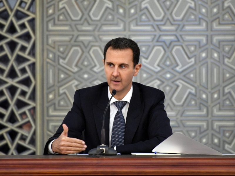 Syrian President Bashar al-Assad. Photo: Sana / Handout via Reuters
