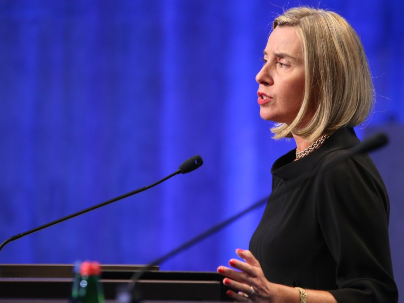 EU foreign-policy chief Federico Mogherini says she's concerned about the escalating tension in the Arabian Peninsula, But the sale of arms to Saudi Arabia by EU member states appears to run counter to efforts to foster peace in the region.Photo: Wikimedia Commons.